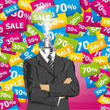 Vector Businessman In Suit Royalty Free Stock Photography