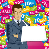 Vector Businessman In Suit Royalty Free Stock Image