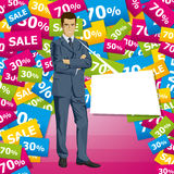 Vector Businessman In Suit Stock Photos