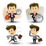 Vector businessman in various poses Stock Photo