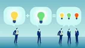 Vector of businessmen brainstorming ideas vector illustration
