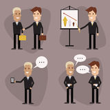Vector businessmen set Stock Photo