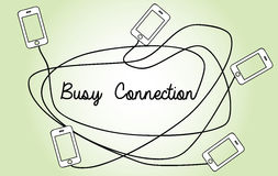Vector busy connection concept Stock Image