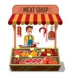 Vector Butcher Shop Royalty Free Stock Photos