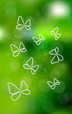 Vector buttefly background Stock Photo