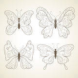 Vector butterflies Stock Images