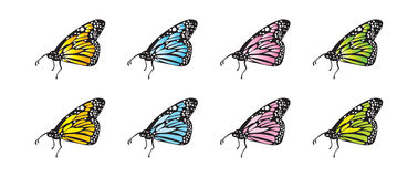 Vector Butterflies. Editable and scalable vector butterflies, with flat and gradient fill vector illustration