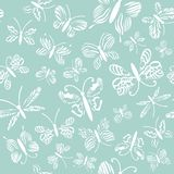 Vector butterflies pattern. Abstract seamless background and texture. royalty free illustration