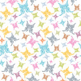 Vector Butterflies Seamless Background Royalty Free Stock Photos