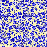 Vector butterflies seamless pattern Royalty Free Stock Photo