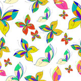 Vector butterflies seamless pattern, white background. Vector butterflies seamless pattern, blue background,colorful Royalty Free Stock Photos