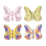 Vector butterflies set Royalty Free Stock Images