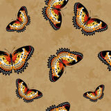Vector Butterflies Texture Pattern royalty free illustration