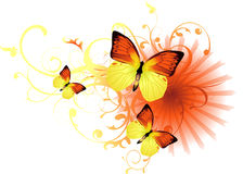 A Vector Butterfly Background Royalty Free Stock Photo