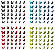 Vector Butterfly. Butterflies in various angles and shapes Stock Image