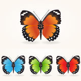 Vector butterfly collection Royalty Free Stock Photo