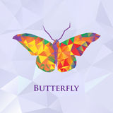 Vector butterfly color geometric Royalty Free Stock Image