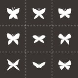 Vector butterfly icon set Royalty Free Stock Photo