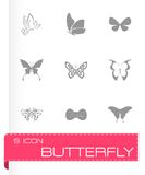 Vector butterfly icon set Royalty Free Stock Image