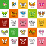 Vector butterfly logo Royalty Free Stock Images