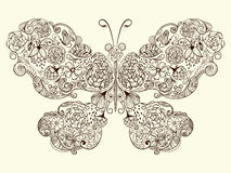 Butterfly Made of Flowers stock illustration