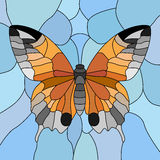 Vector of butterfly in mosaic. Stock Image