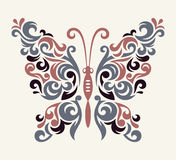 Vector butterfly pattern Stock Photos