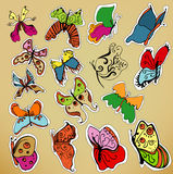 Vector butterfly set Stock Photos