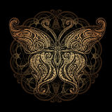 Vector butterfly tattoo Royalty Free Stock Images