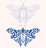 Vector butterfly tattoo. Tattoo shape of butterfly. best of use your t-shirt, web icon, business logo, body and many place Royalty Free Stock Photography