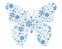 Vector Butterfly With Flower Texture Stock Photography