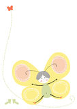 Vector butterfly yelow Stock Image