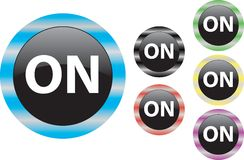 Vector ON  button Royalty Free Stock Images