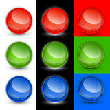 Vector button balls, samples. Glossy button balls in vector Royalty Free Stock Photo