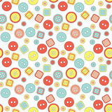 Vector button cute seamless pattern Stock Photo