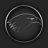 Vector button with eagle Stock Photography