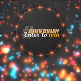 Vector Button Giveaway Competition Template Stock Images