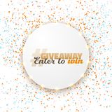 Vector Button Giveaway Competition Template Royalty Free Stock Image