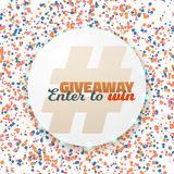 Vector Button Giveaway Competition Template Stock Photos