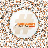 Vector Button Giveaway Social Media Promotion Stock Photography