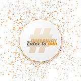 Vector Button Giveaway Social Media Template Stock Image