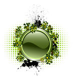 Vector button with popular elements Royalty Free Stock Images