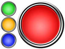 Vector Button Set. Illustration with four glossy button, green, blue, orange and red vector illustration
