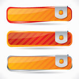 Vector button set in red and orange variations Royalty Free Stock Image