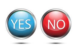 Vector button sign yes and no on white background Royalty Free Stock Photo