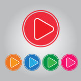 Vector button video play and audio Royalty Free Stock Photo