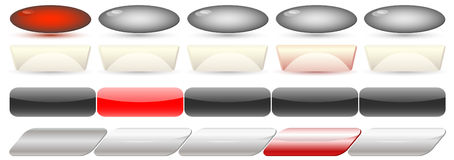 Vector buttons Stock Images