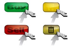 Vector buttons. Set of buttons for e-shop royalty free illustration