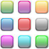 Vector buttons Stock Photos