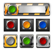 Vector buttons. Stock Photography